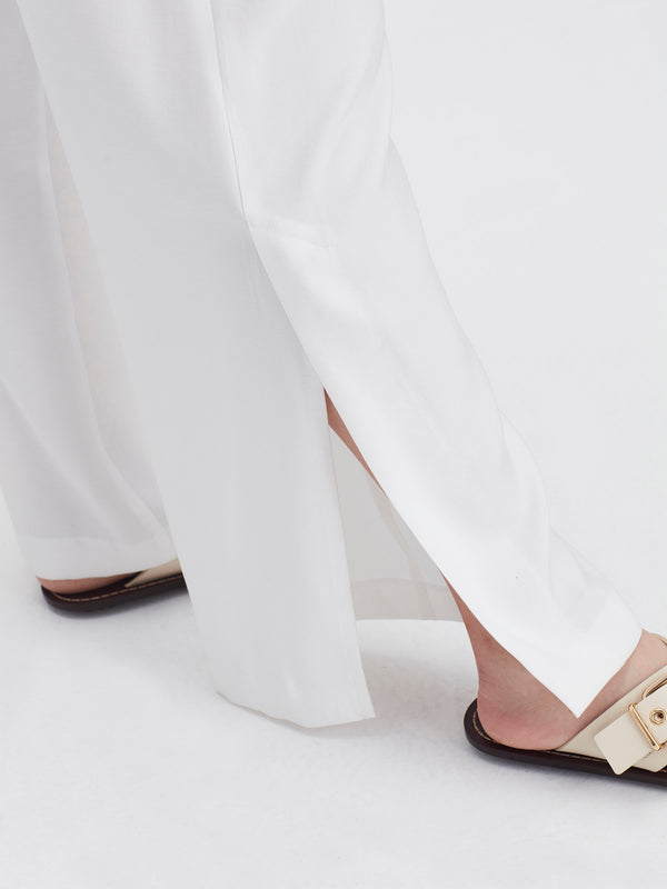 Addy Pant (Bamboo Crepe) White