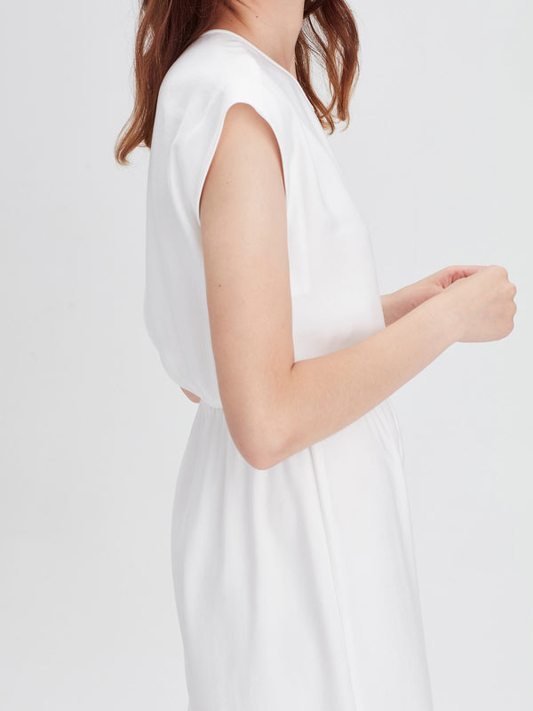 Adelle Jumpsuit (Bamboo Crepe) White