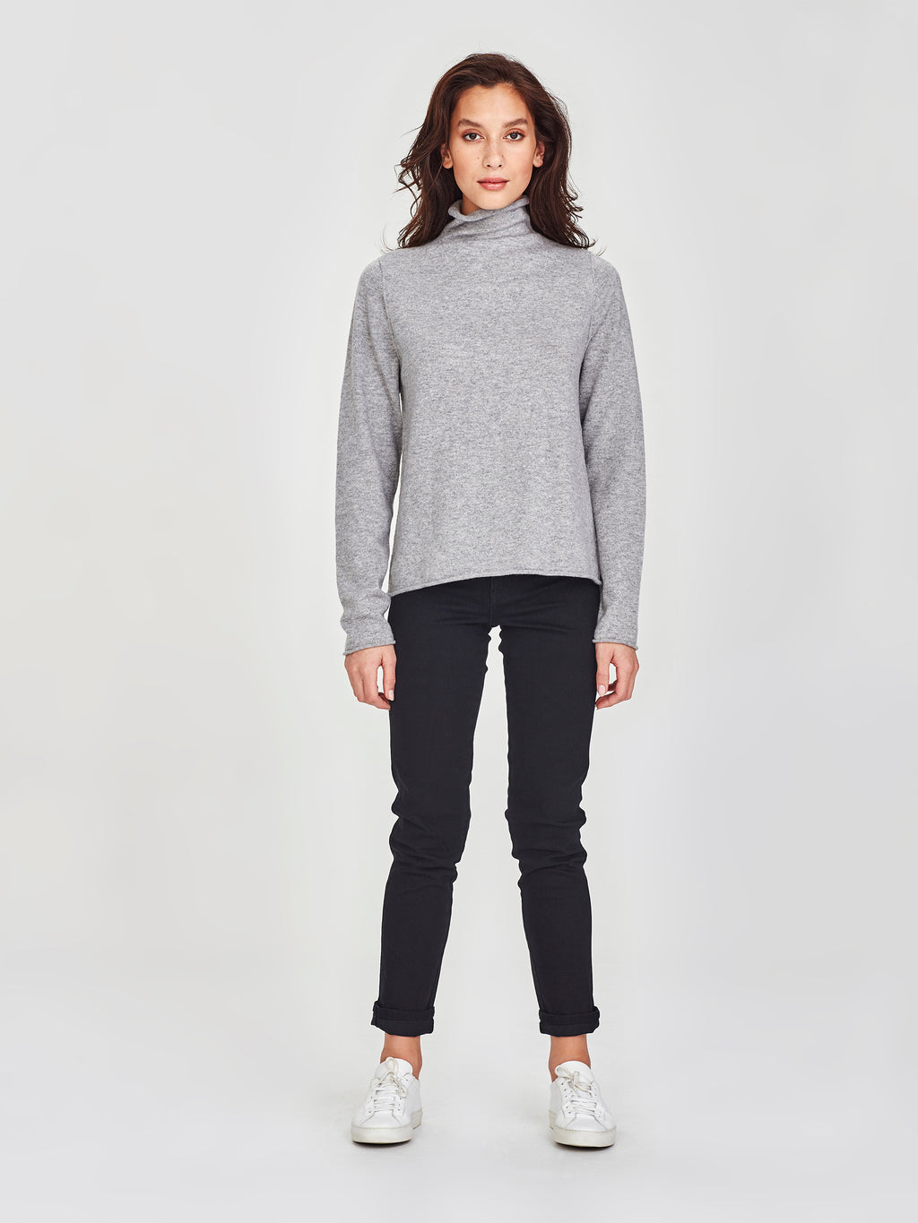 Ever Cashmere Top (Cashmere) Grey Marle