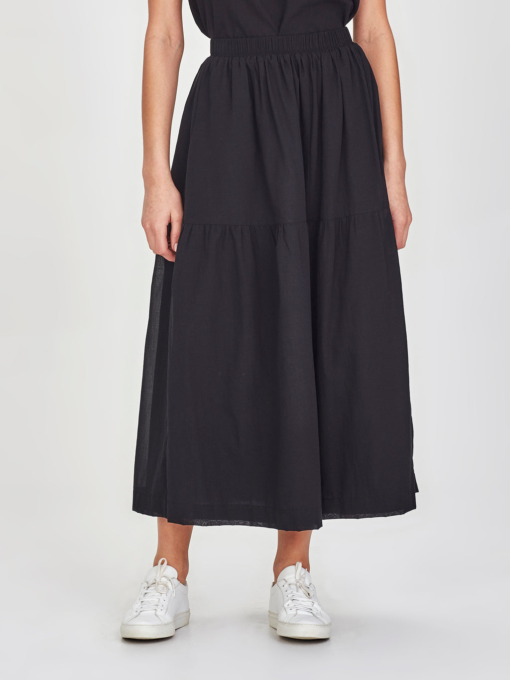 Aran Skirt (Chiffon Shirting) Black