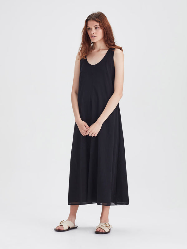 Vanessa Dress (Chiffon Shirting) Black