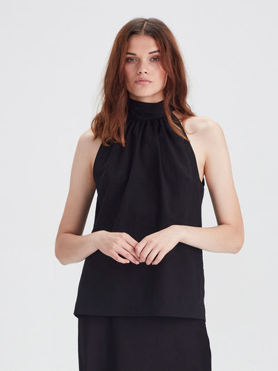 Zelda Blouse (Chiffon Shirting) Black