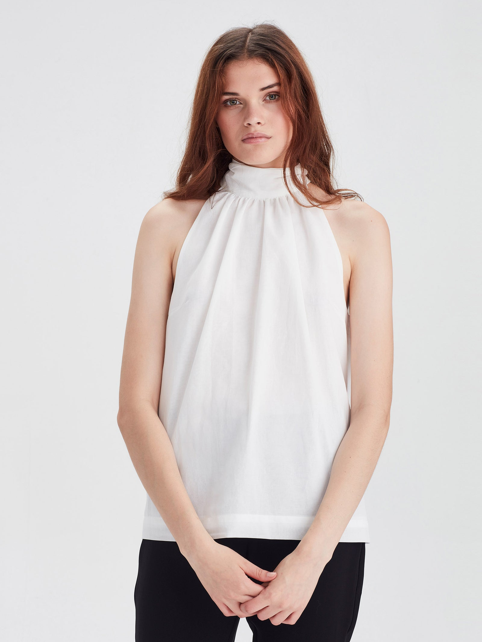 Zelda Blouse (Chiffon Shirting) White