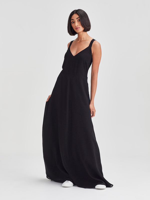 Gaelle Dress (Cross Hatch) Black