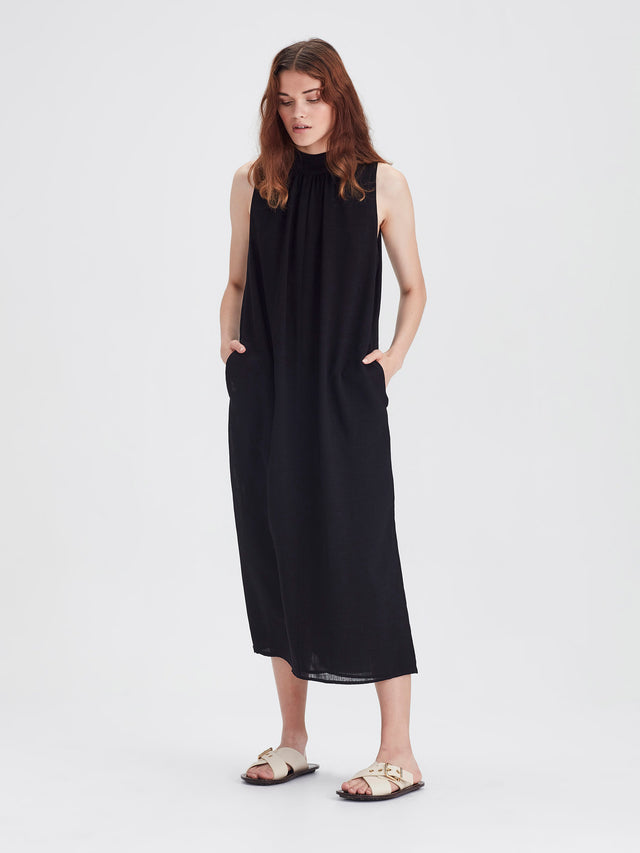 Tish  Dress (Cross Hatch) Black