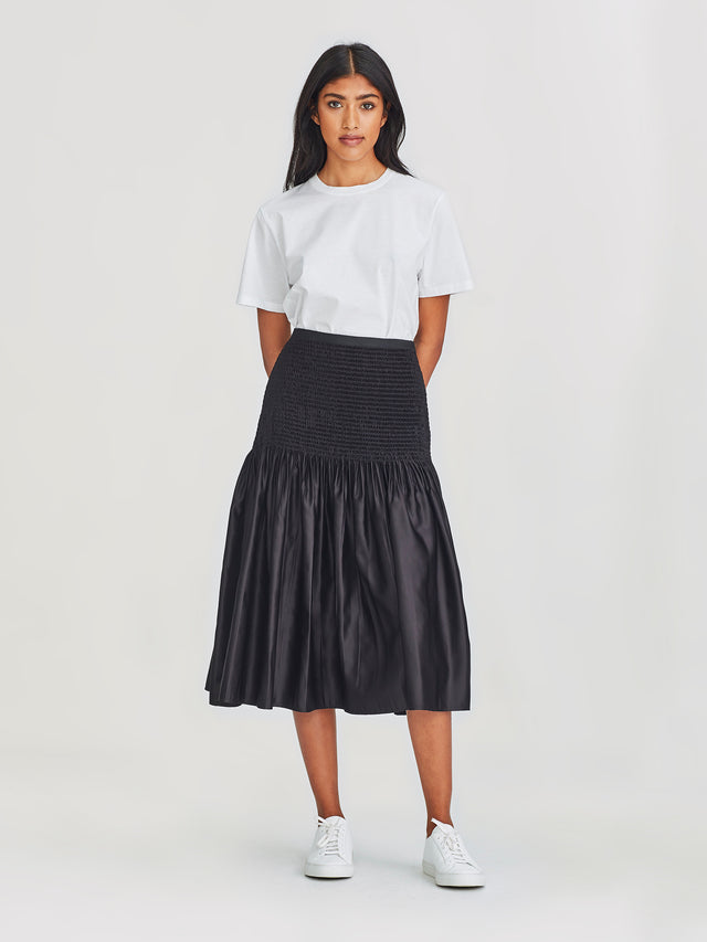 Lizzy Skirt (Crinkle Satin) Black