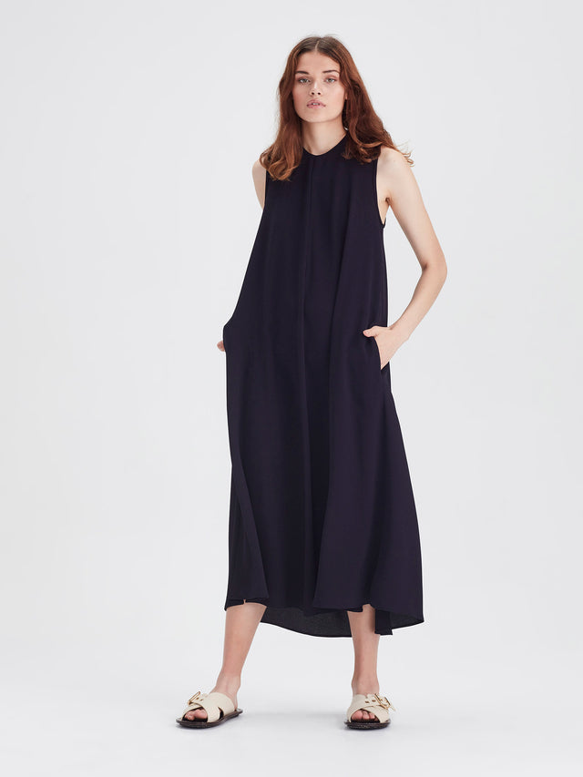 Tattie Dress (Drape Knit) Dark Navy