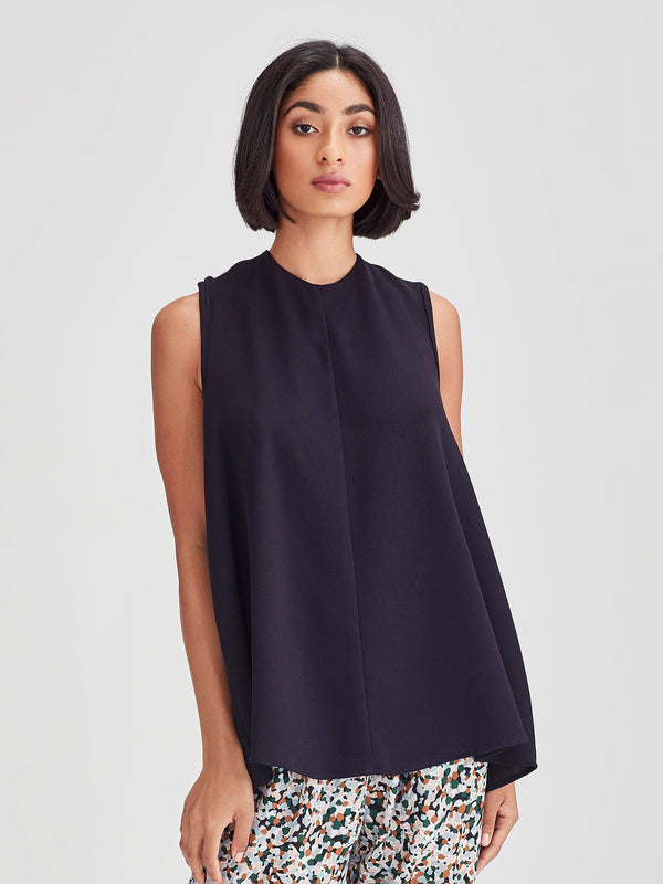 Tiva Top (Drape Knit) Dark Navy