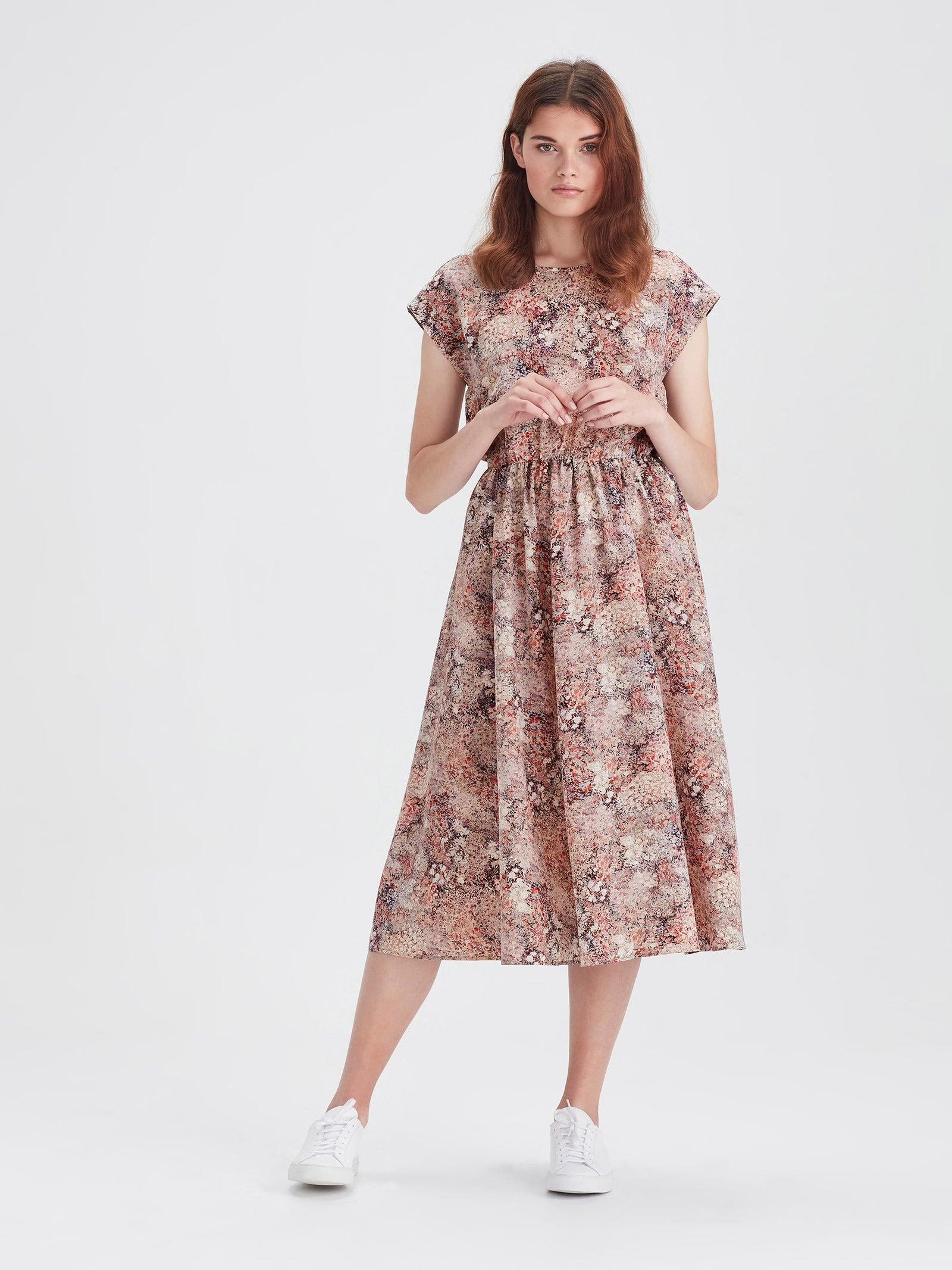 Fenella Dress (Floral Garden) Bloom