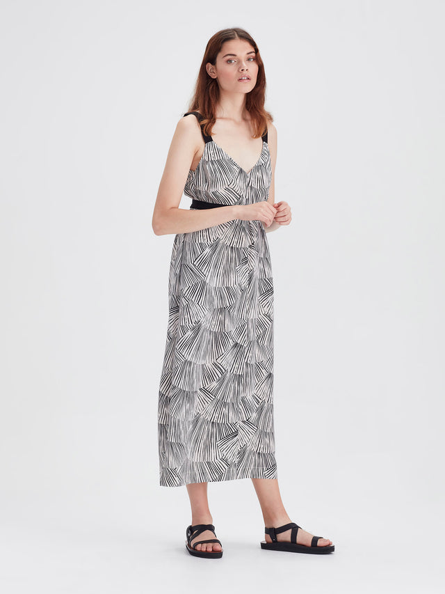 Glide Slip (Fan Silk) Black/Chalk