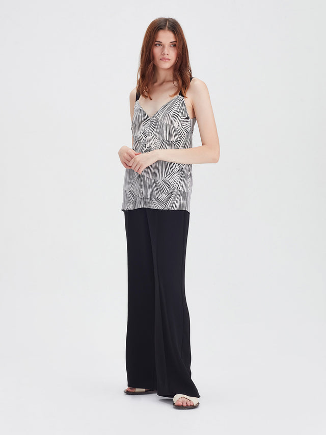 Ida Cami (Fan Silk) Black/Chalk