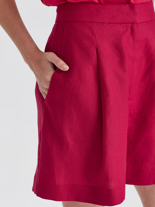 Carly Short (Linen) Fuchsia