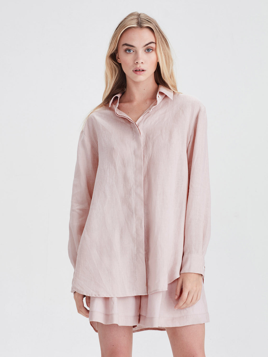 Beauden Shirt (Light Linen) Petal