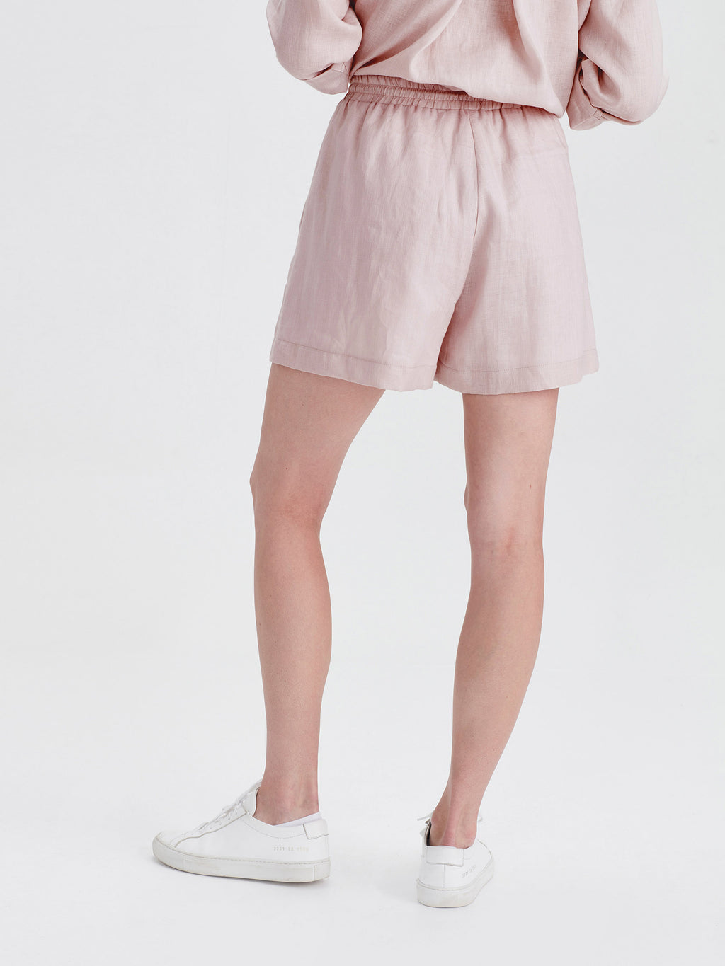 Finch Shorts (Light Linen) Petal