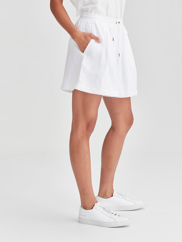 Finch Shorts (Light Linen) White