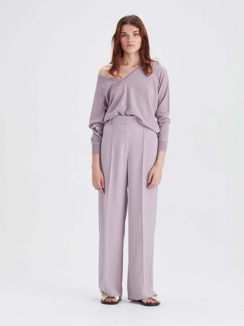 CeeCee Trouser (Luxe Coloured Suiting) Lavender