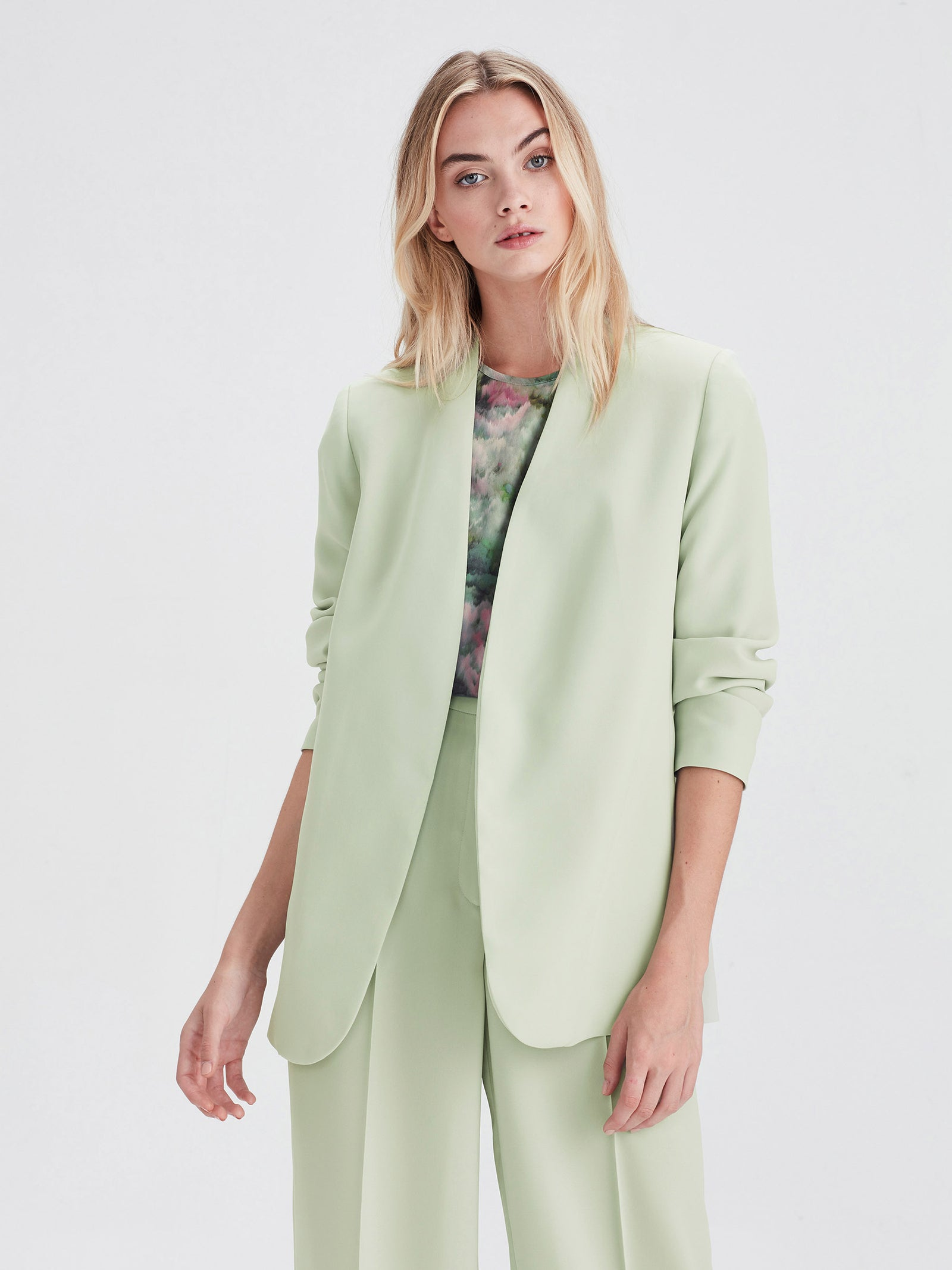 Lindsay Blazer (Luxe Coloured Suiting) Mint