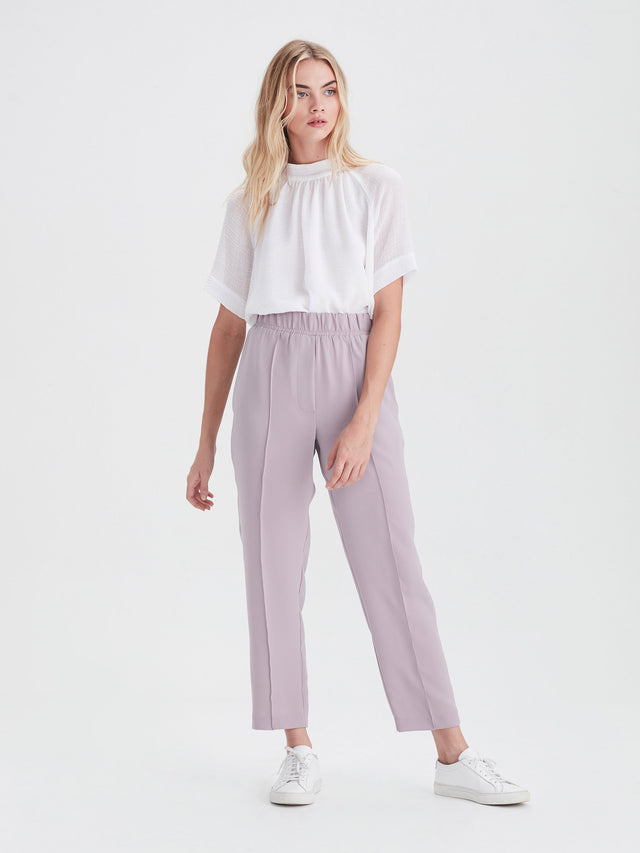 Tuck Pant (Luxe Coloured Suiting) Lavender