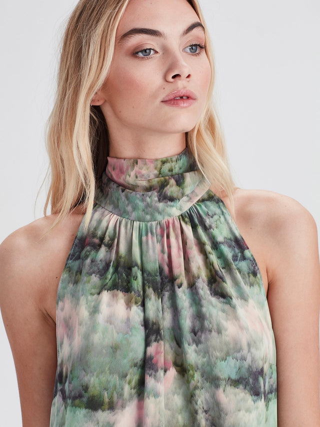 Annabelle Dress (Lotus Silk) Lotus Floral