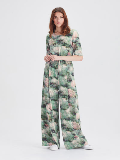 Belle Jumpsuit (Lotus Silk) Lotus Floral