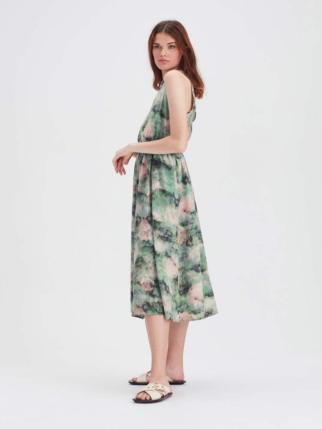 Freya Dress (Lotus Silk) Lotus Floral