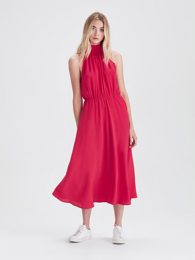 Soiree Dress (Silk CDC) Fuchsia
