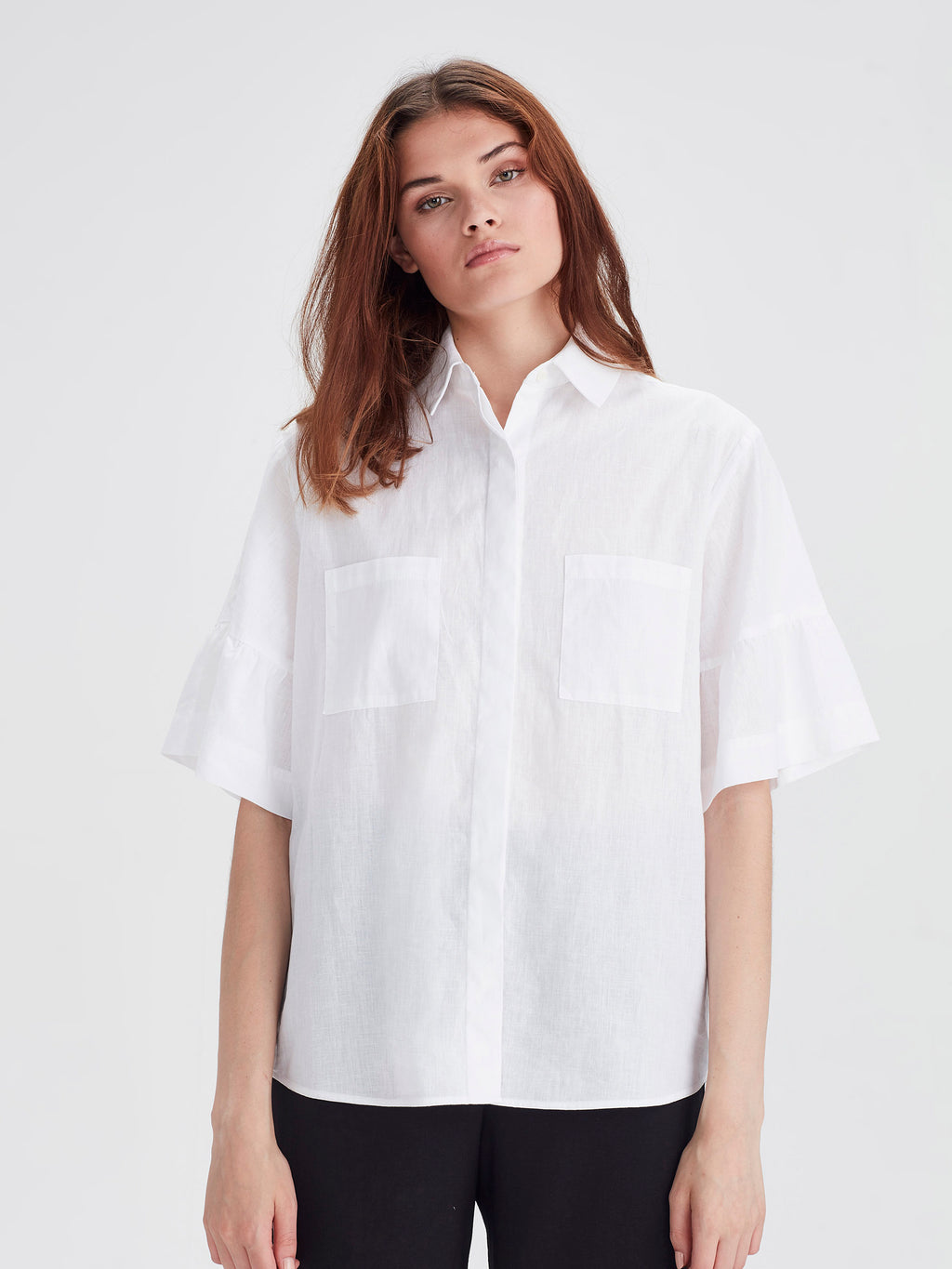 Elouise Blouse (Soft Linen Cotton) White