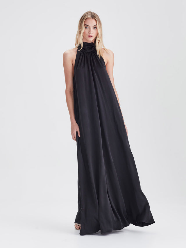 Nico Dress (Sandwash Silk) Black