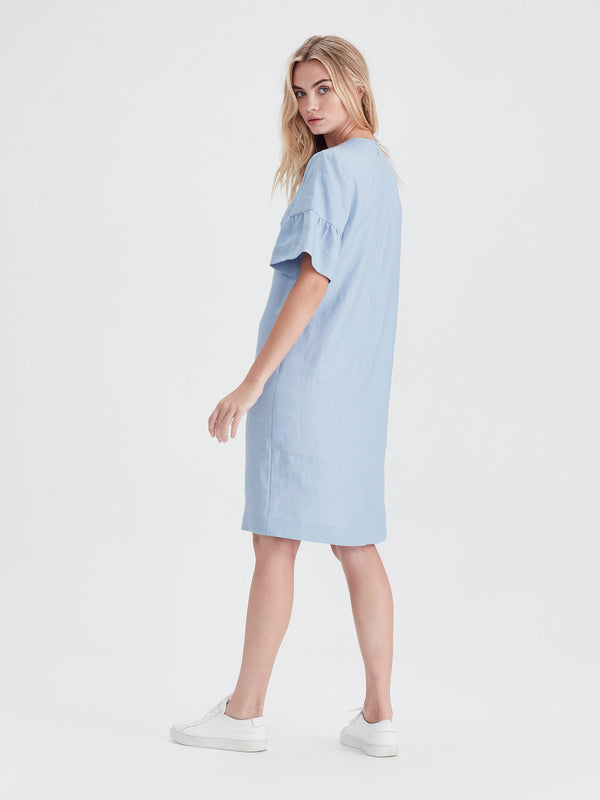 Mala Tunic (Tinted Linen) Baby Blue
