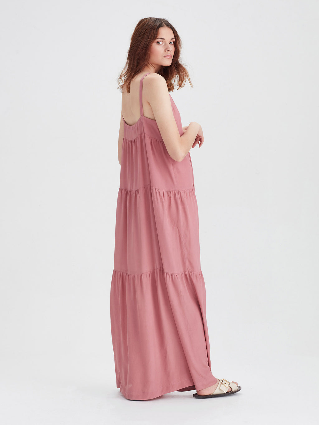 Anmari Dress (Viscose Silk) Musk