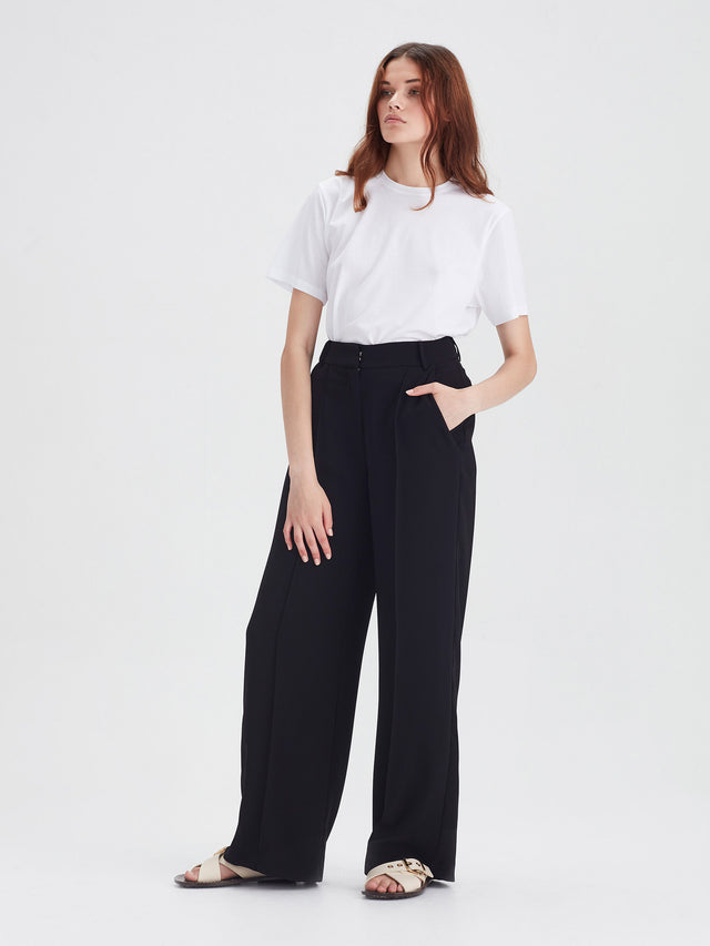 CeeCee Trouser (Luxe Coloured Suiting) Black