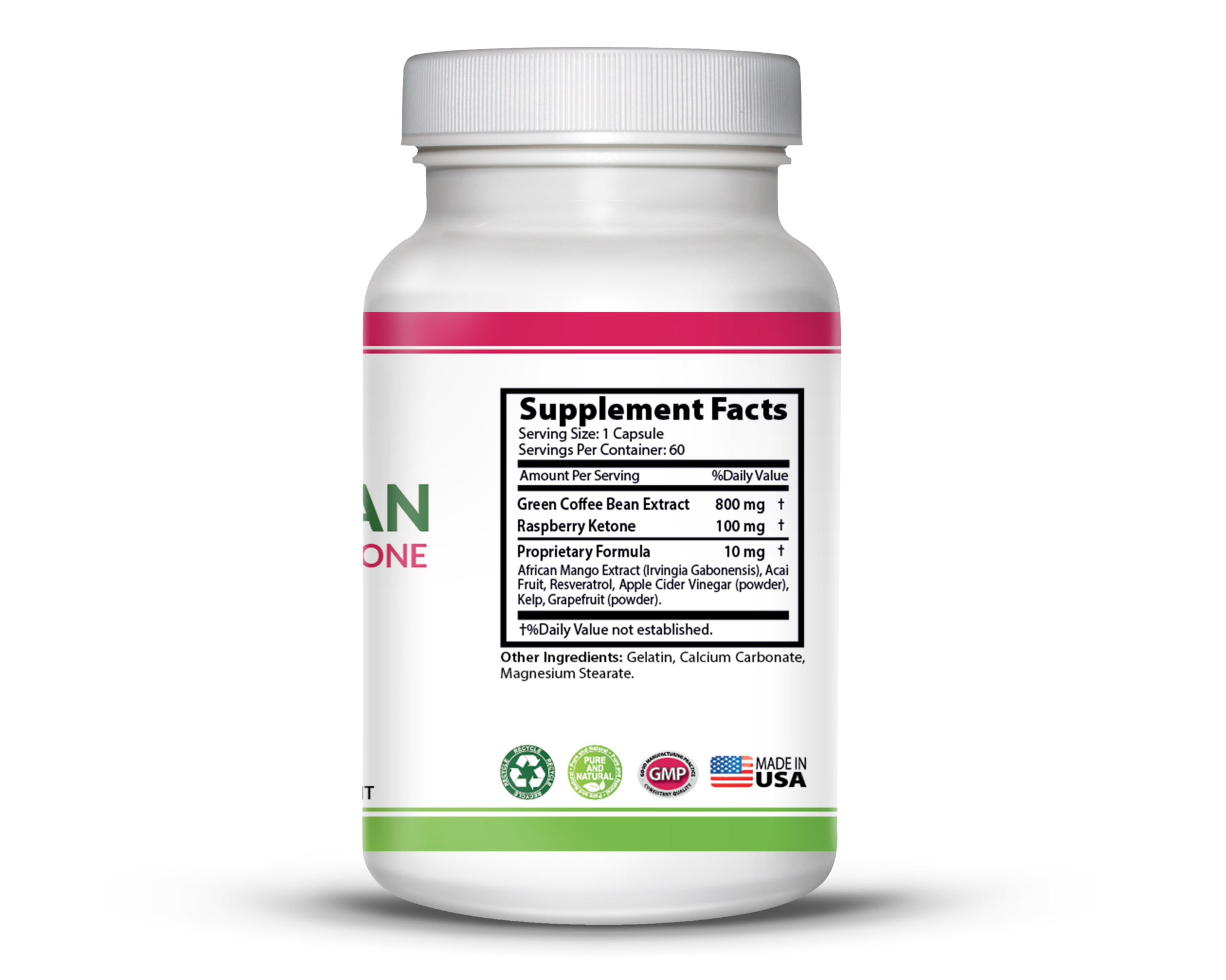 Green Coffee Bean Extract Lean Formula with Raspberry Ketone