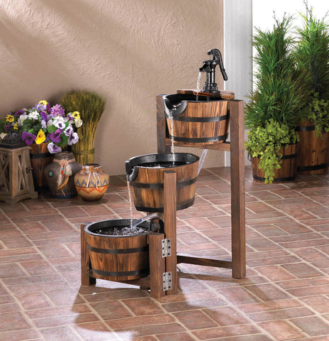 Apple Barrel Cascading Fountain