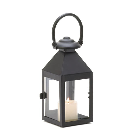 Small Classic Black Candle Lantern