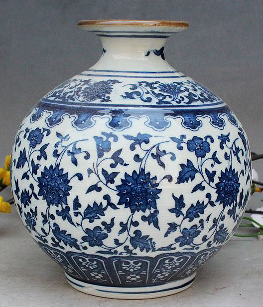 Exquisite Small Round Chinese Old Handwork Antique Blue And White