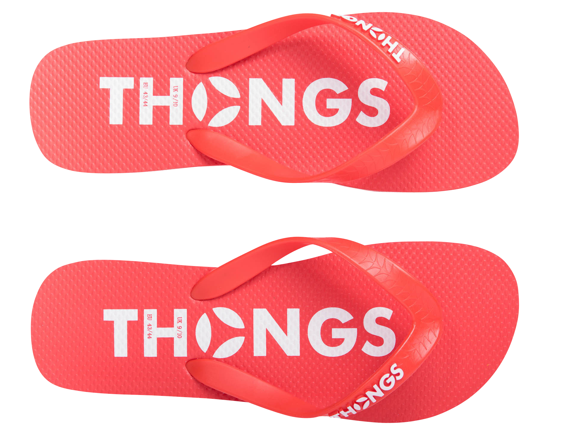 8429589b4 Thongs Classic Red   White Rubber Flip Flop - Thongsflipflops