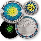 Geocoin 24 uur - 24 caches Award set