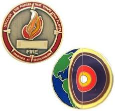 Four elements Fire micro geocoin