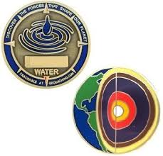 Four elements Water micro geocoin