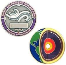 Four elements Wind micro geocoin