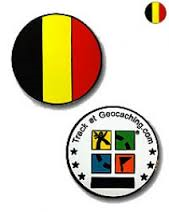 Geocoin Belgium flag micro - Black Nickel