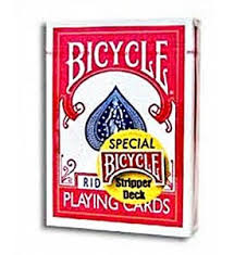 Bicycle goochelkaarten STRIPPER DECK