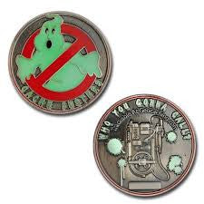 Cache Buster Geocoin -Antique Nickel - Glow