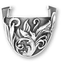 Coin stand - Flourish - Antique Silver - Large