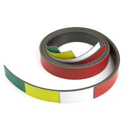 Magneetband 20 mm: rood - 1 m