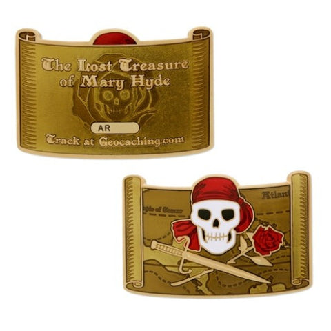 Pirate Geocoin and Tag Set: The lost Treasure of Mary Hyde