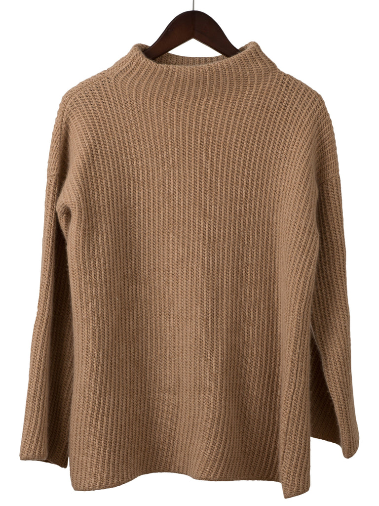Funnel neck cashmere jumper, Hickman & Bousfield - Hickman & Bousfield
