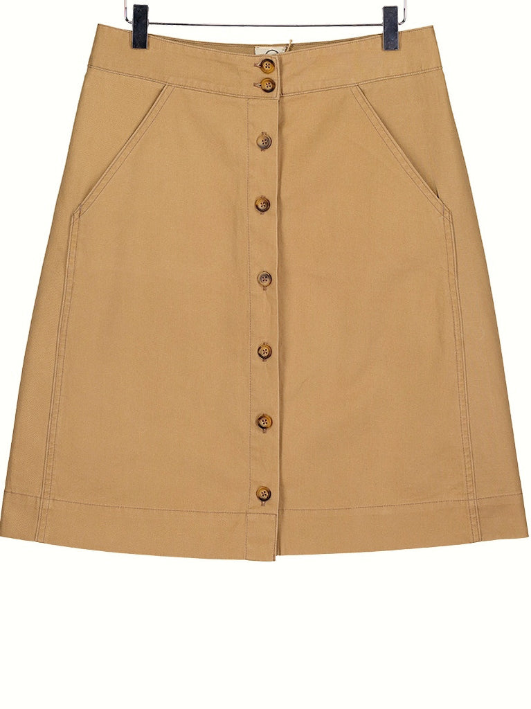 Button through skirt - sand, Dress, Hickman & Bousfield - Hickman & Bousfield, Safari and Travel Clothing