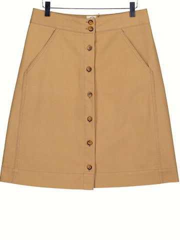 Button through skirt - sand