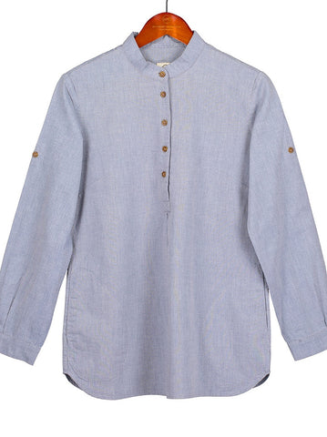 NEW TUNIC IN Sky Blue Cotton Shirting